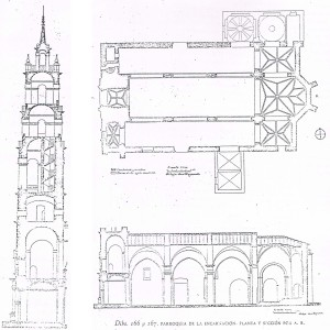 Plano de la Torre y de la Iglesia de la Encarnación